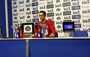 Rubén Vega, en su etapa como segundo entrenador de la Ponferradina.