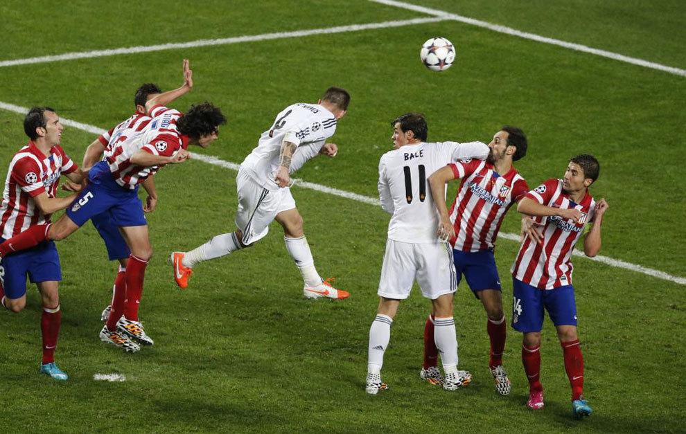 Ramos marcó un gol histórico en el minuto 93.