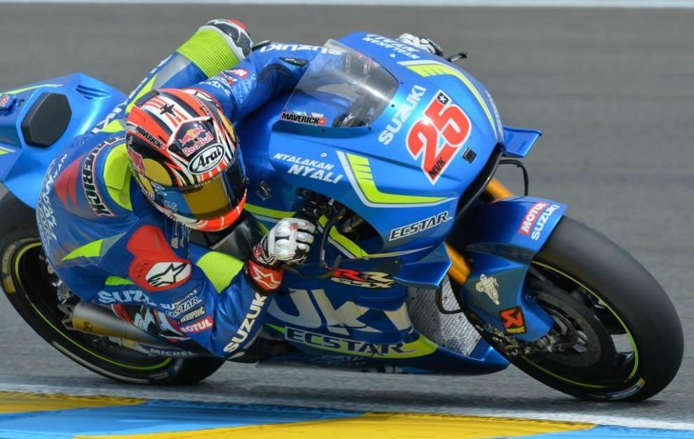 Maverick Viñales, sobre su Suzuki en Le Mans
