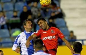 Imagen del Leganés-Nástic de la primera vuelta, único partido que...