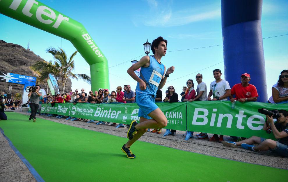 Saúl Padua, ganador del Kilómetro Vertical de Transvulcania 2016.