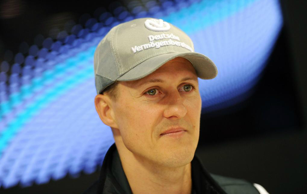 Michael Schumacher durante la rueda de prensa de Mercedes en el GP de...