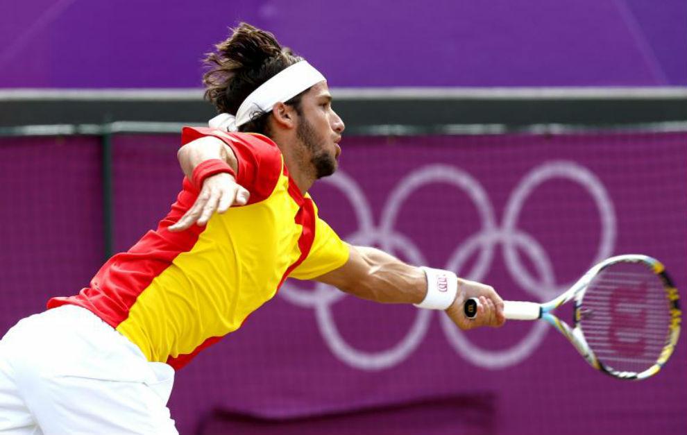 Feliciano López durante los Juegos Olímpicos de Londres 2012.