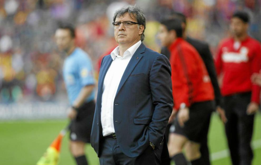 Tata Martino, durante su etapa como entrenador del Barcelona,