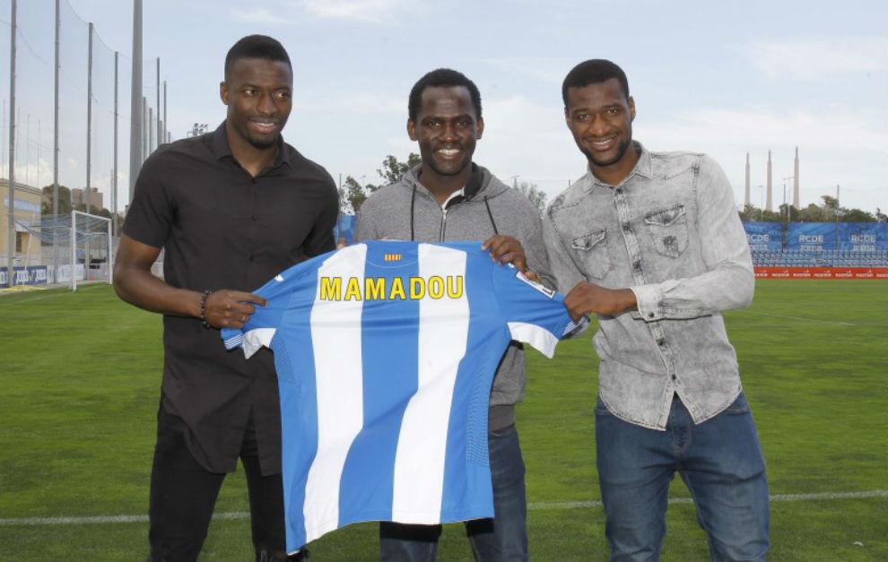 Diop y Mamadou, junto a Mamadou Saliou.