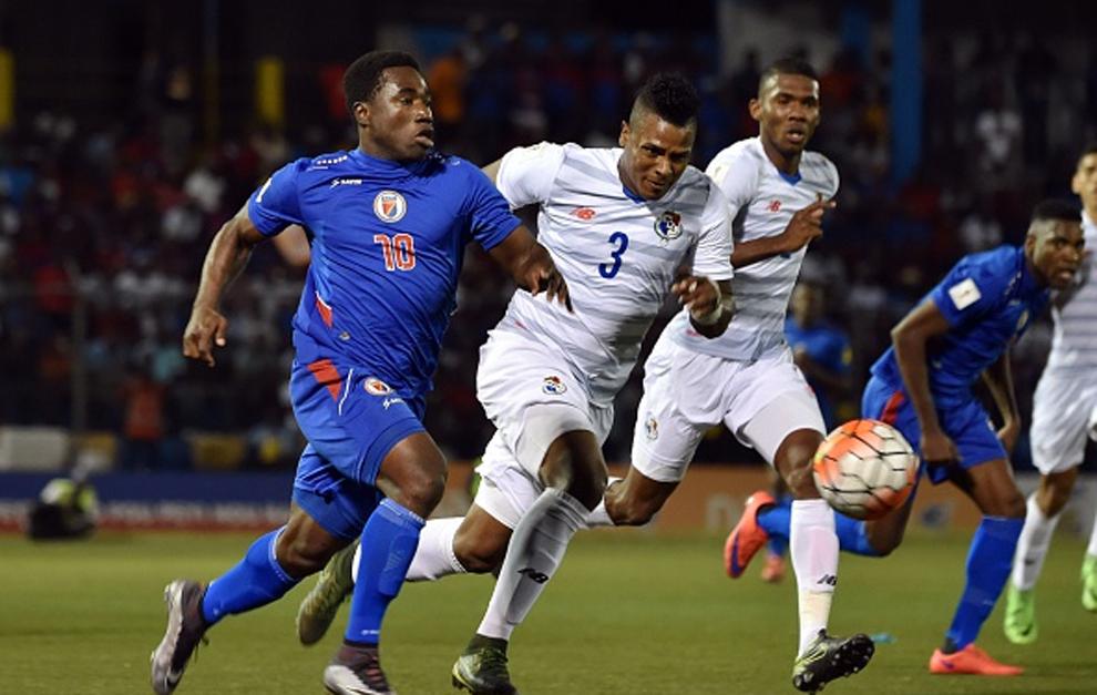 Lance del encuentro entre Haití y Panamá, disputado en marzo de...