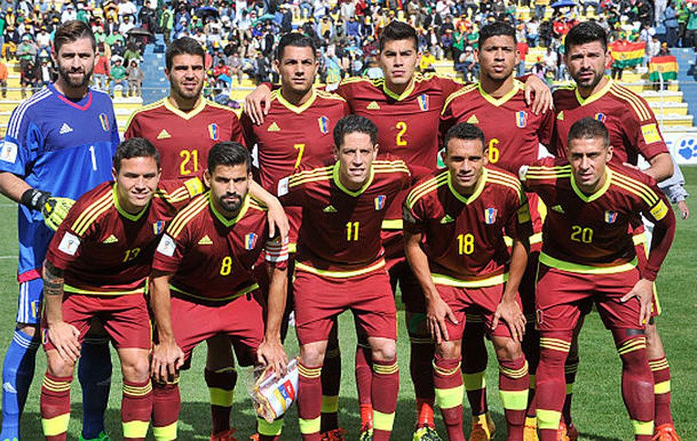 Un once de un partido de la selección de Venezuela.