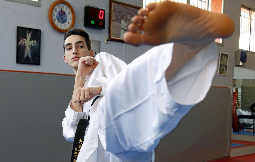Jesús Tortosa, durante un entrenamiento.