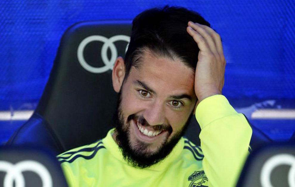 Isco en el banquillo del Santiago Bernabéu