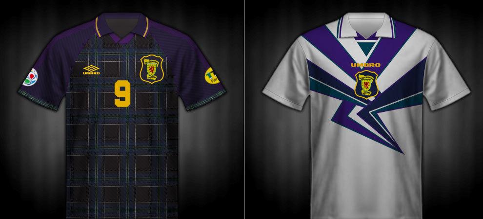 Camisetas que lució Escocia en la Eurocopa 1996