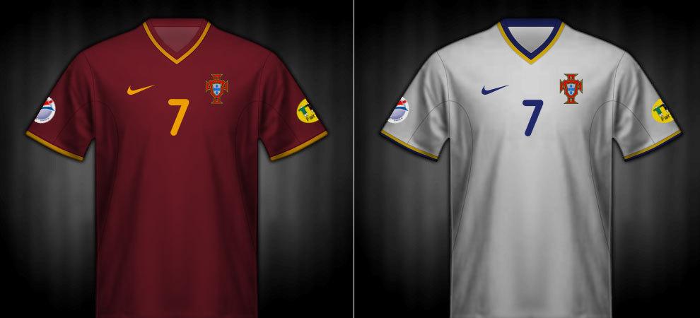 Camisetas que lució Portugal en la Eurocopa 2000