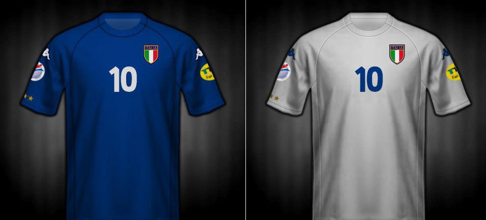 Camisetas que lució Italia en la Eurocopa 2000