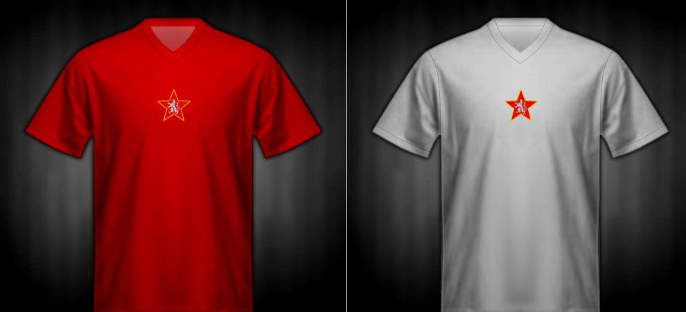 Camisetas que lució Checoslovaquia en la Eurocopa 1960