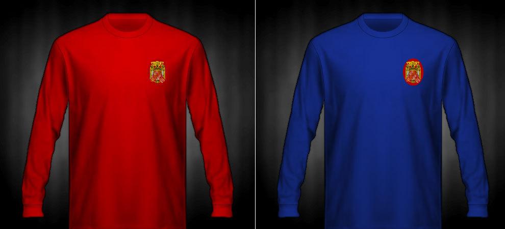 Camisetas que lució España en la eurocopa 1964
