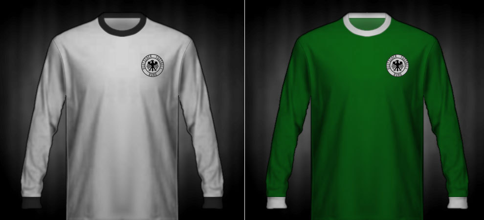 Camisetas que lució la RFA en las Eurocopas de 1972 y 1976