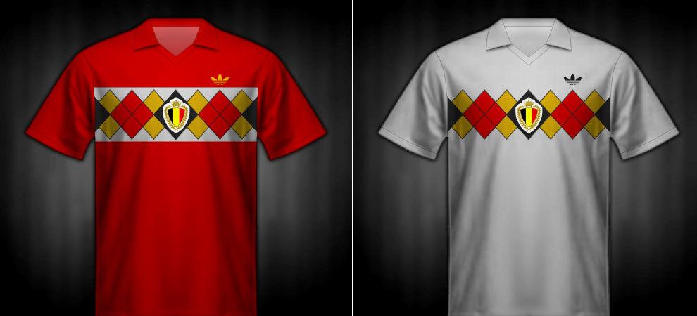 Camisetas que lució Bélgica en la Eurocopa 1984