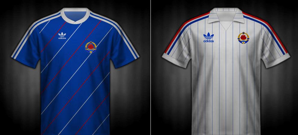 Camisetas que lució Yugoslavia en la Eurocopa 1984
