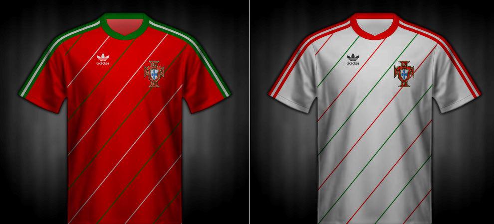 Camisetas que lució Portugal en la Eurocopa 1984