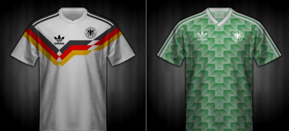 Camisetas que lució la RFA en la Eurocopa 1988
