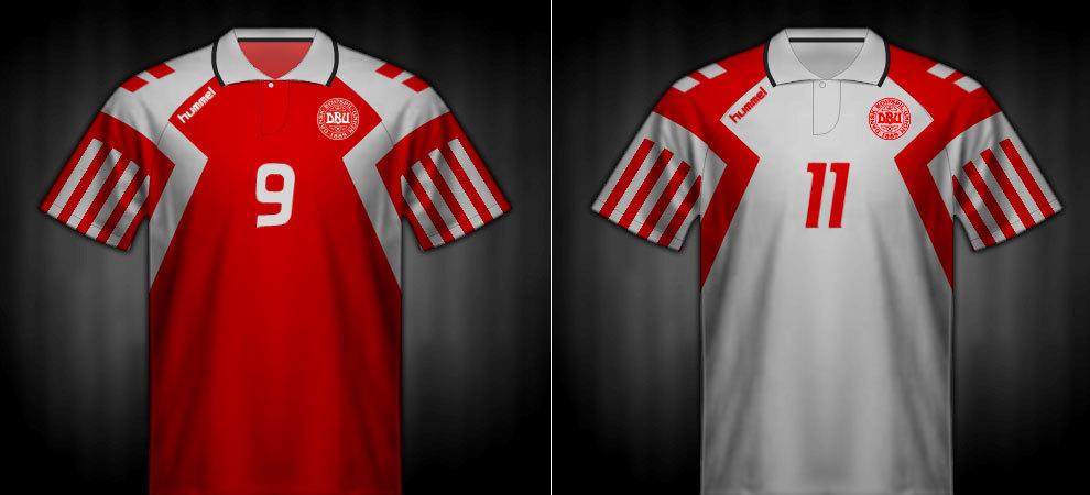 Camisetas que lució Dinamarca en la Eurocopa 1992