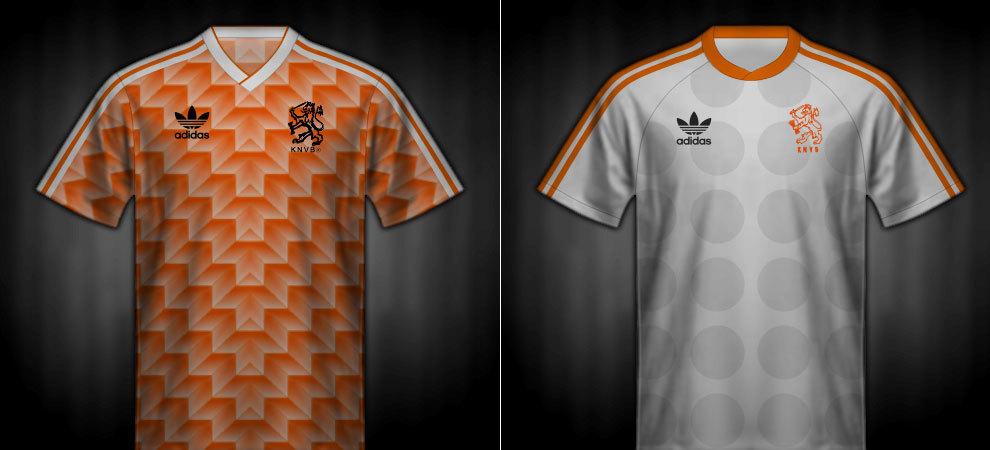 Camisetas que lució Holanda en la Eurocopa 1988