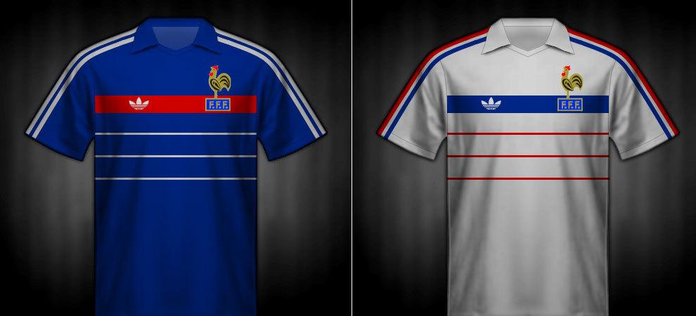 Camisetas que lució Francia en la Eurocopa 1984