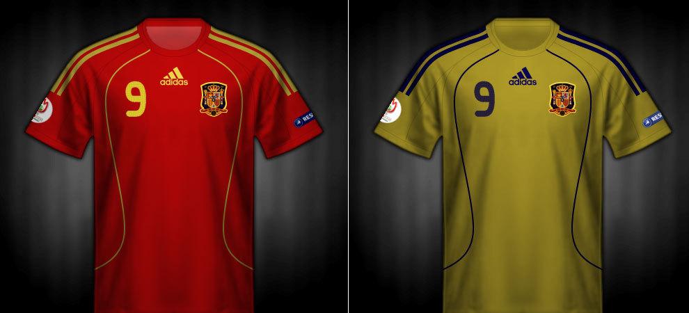 Camisas que lució España en la Eurocopa 2008