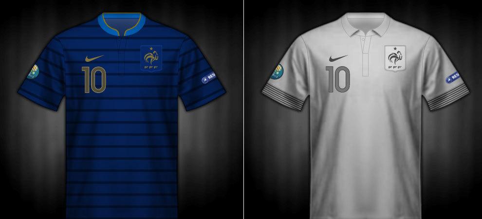 Camisetas que lució Francia en la Eurocopa 2012