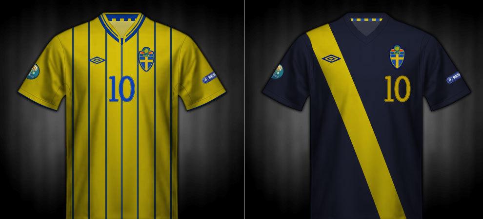 Camisetas que lució Suecia en la Eurocopa 2012