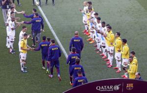 El pasillo que le hicieron al Barça tras ganar la Liga.