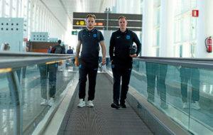 Rakitic y Ter Stegen, durante una expedición del Barcelona esta...
