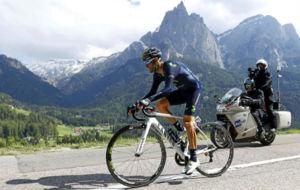 Alejandro Valverde durante la cronoescalada.