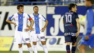 Mantovani y Víctor Ruiz no pueden esconder la decepción tras perder...