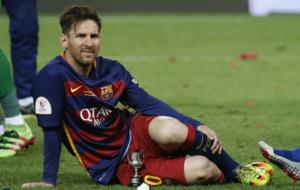 Messi, en la celebración de la Copa.