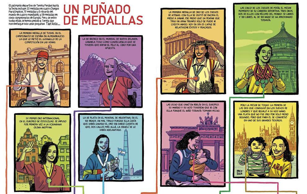 Paco Roca ha ilustrado su exitosa trayectoria deportiva