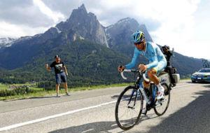 Vincenzo Nibali durante el Giro de Italia.