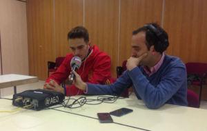Denis Su�rez, junto a Ant�n Meana, en Las Rozas.