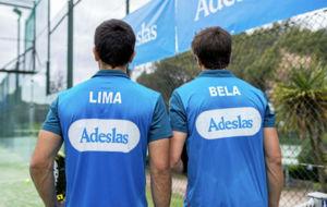 Pablo Lima y Fernando Belasteguin tras un entrenamiento.