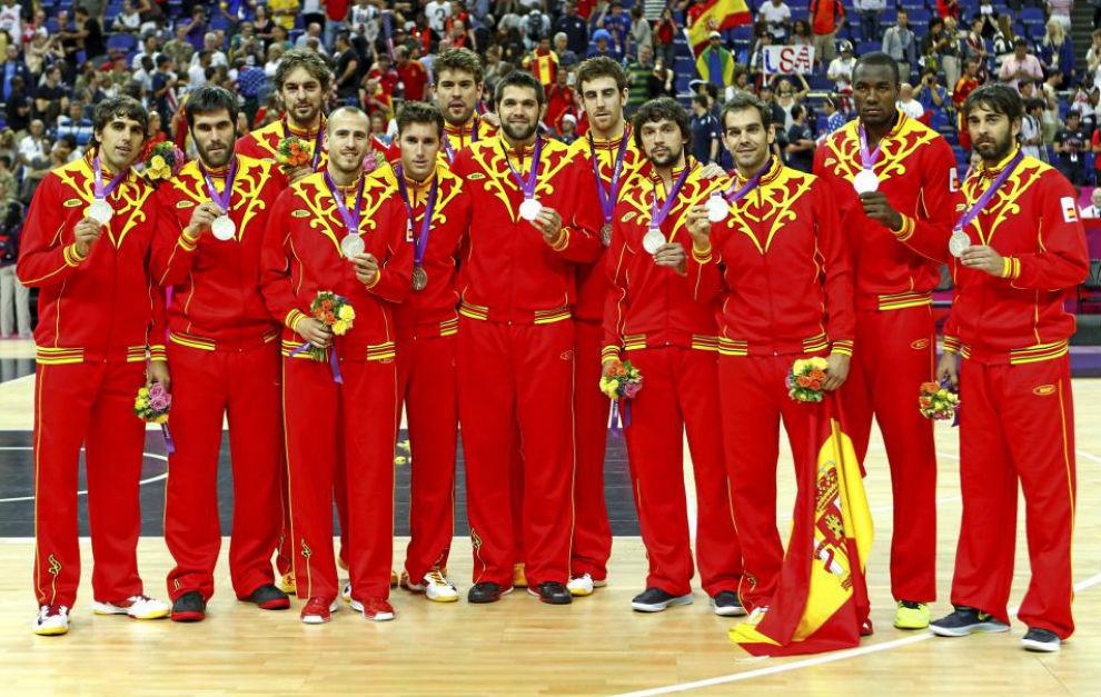 La selección española que ganó la medalla de plata en Londres.