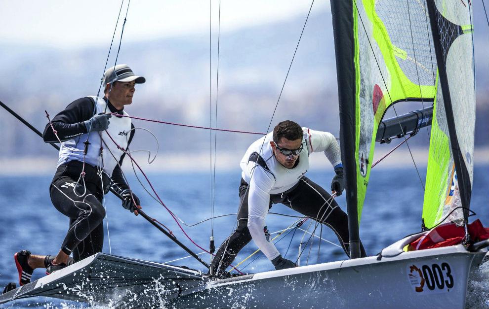 Diego Botín y Iago López Marra, durante una regata.