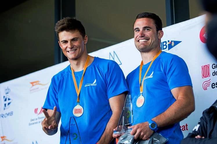 Diego Botín y Iago López-Marra, en el podio.