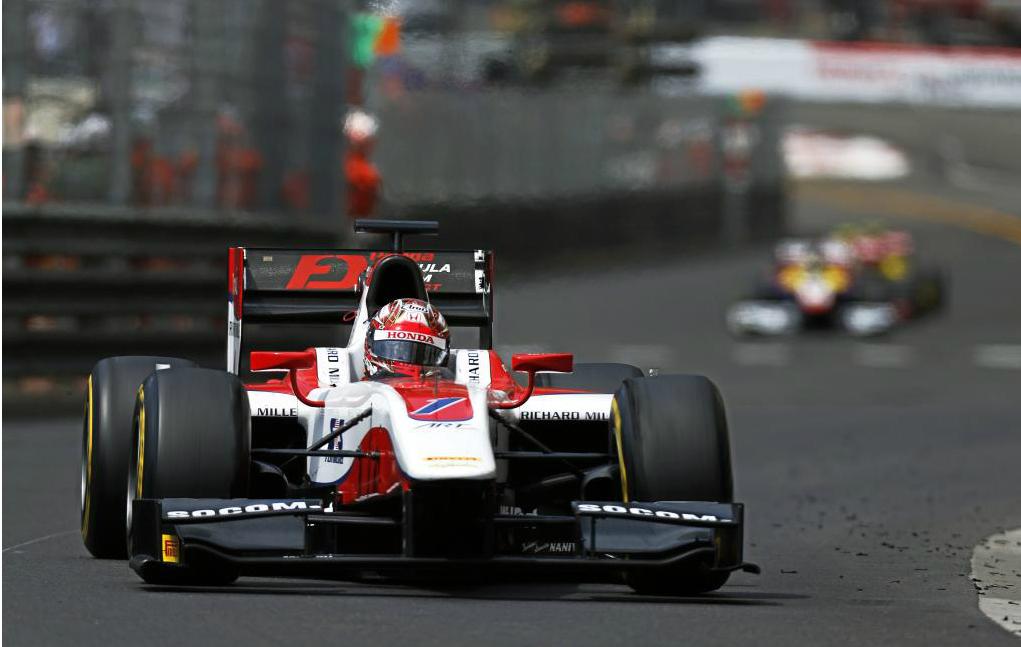 Nobaru Matsushita durante la primera carrera del GP2 Mónaco