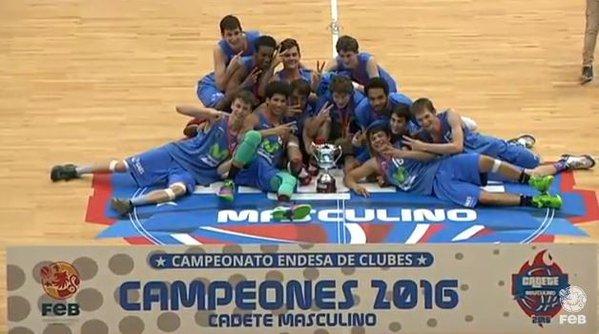 Estudiantes, campeón del Campeonato de España cadete de baloncesto