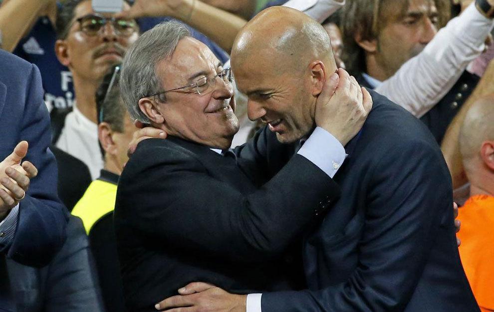 Florentino and Zidane.