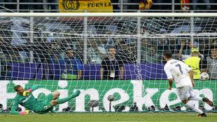 Cristiano Ronaldo bate a Oblak en la tanda de penaltis de la final de...