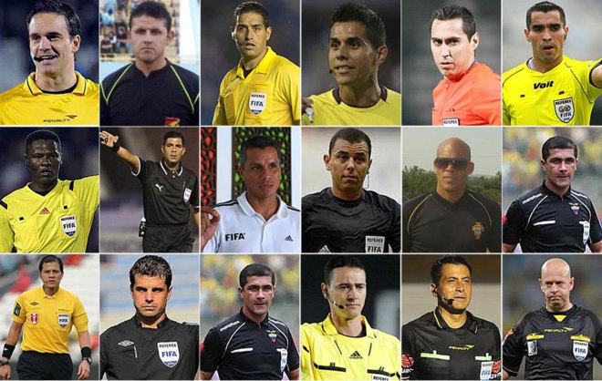 Las imágenes de los 16 árbitros que tendrá la Copa América...
