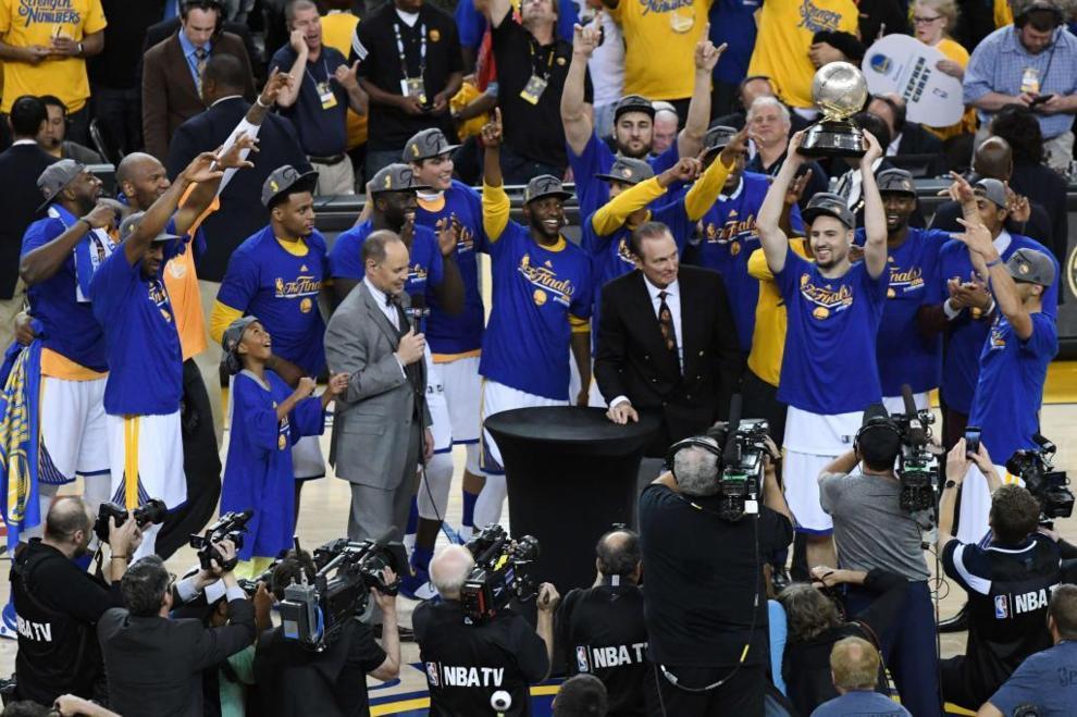 Los Golden State Warriors campeones de la Conferencia Oeste