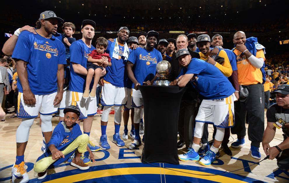 Coronación de los Warriors como campeones del Oeste