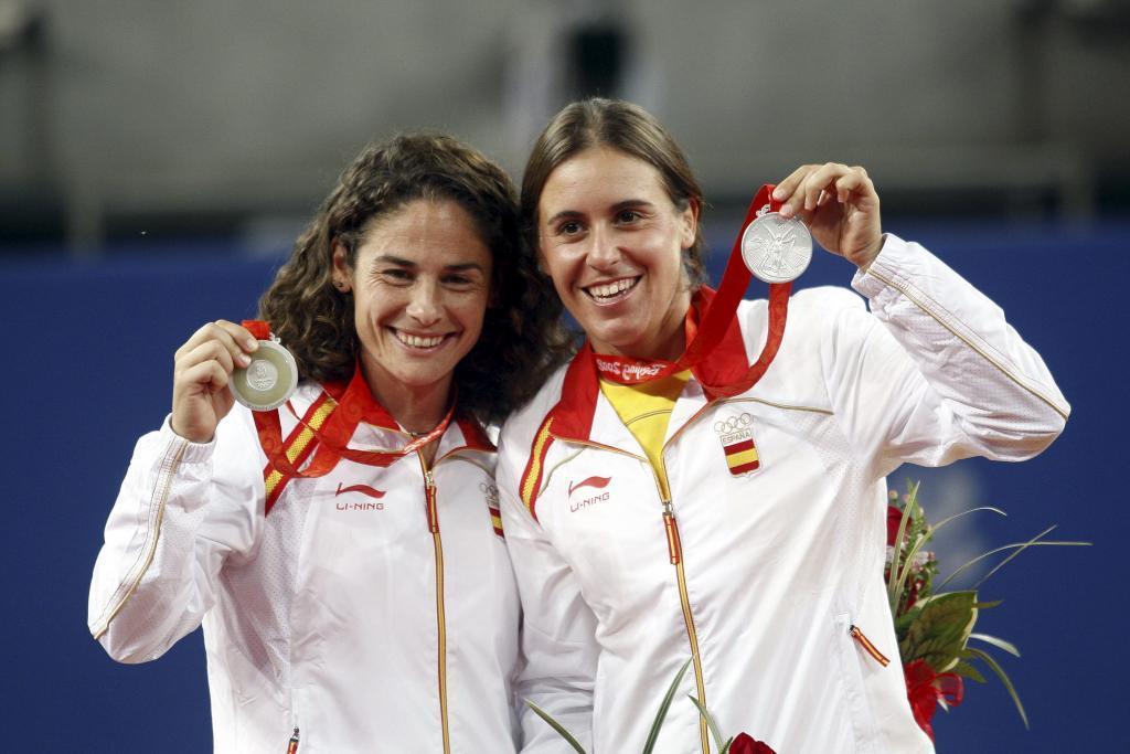 Vivi Ruano y Anabel Medina en Pekín 2008.