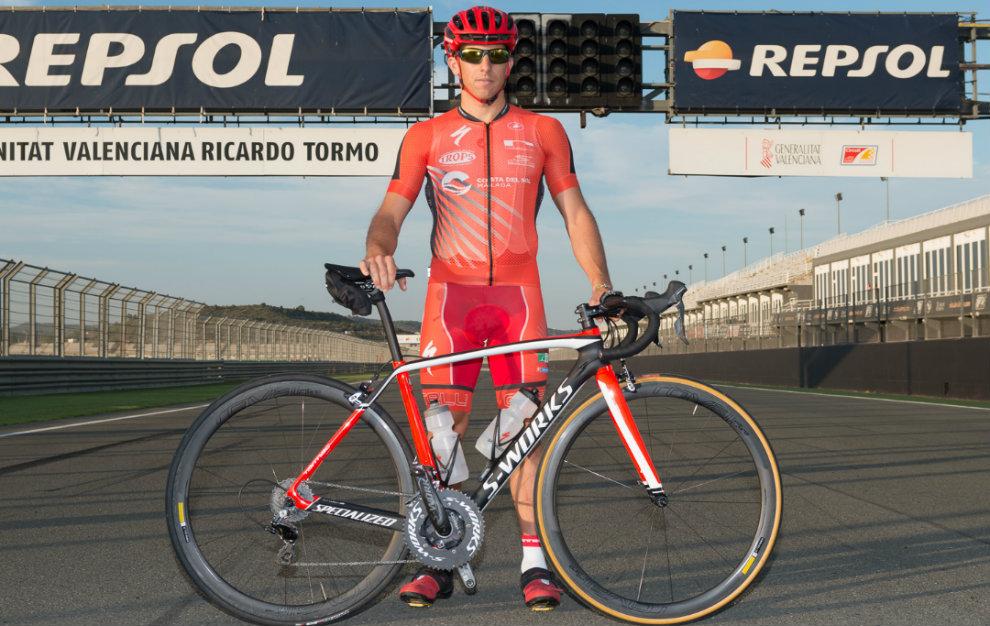Rubén Ruzafa, en el trazado del Circuito Ricardo Tormo de Cheste